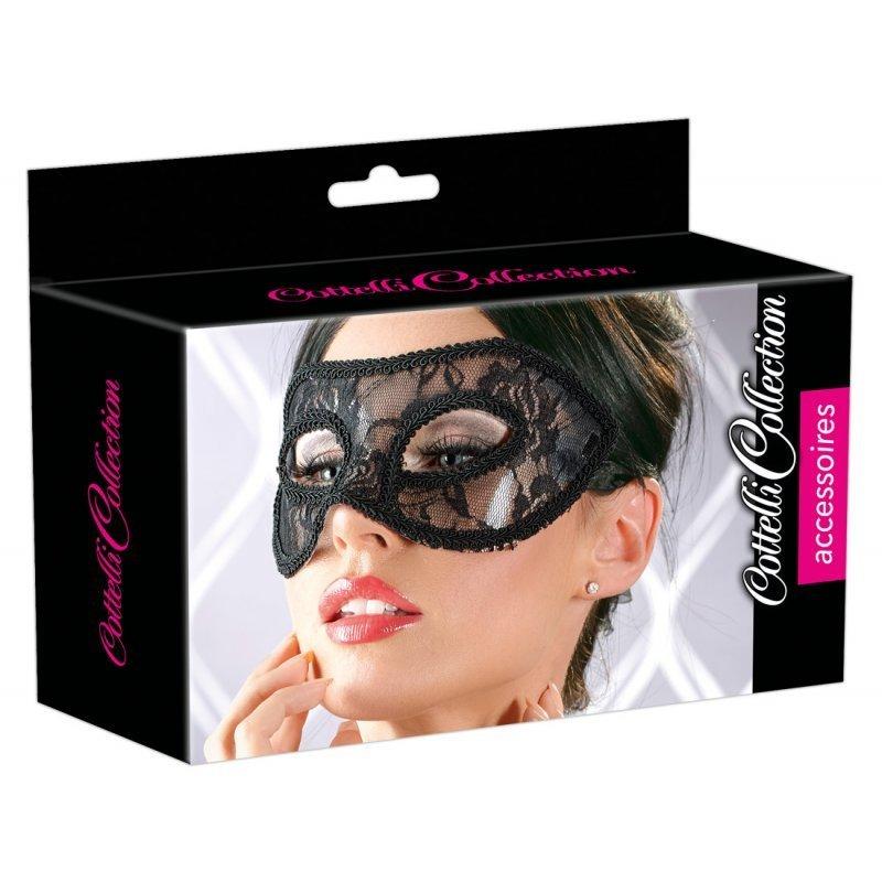 Síťovaná maska s krajkou unisize