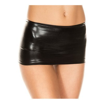 Metallic Mini Skirt - Black