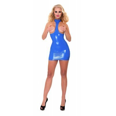 GP Datex Collared Exposure Dress Blue