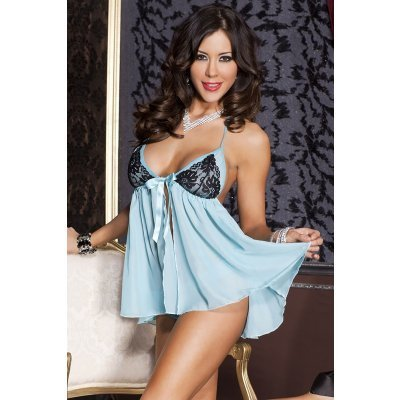 Babydoll With Lace Cups - Turquoise