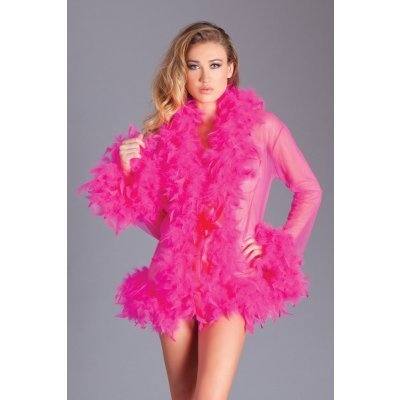 Kimono with Feathers - Pink