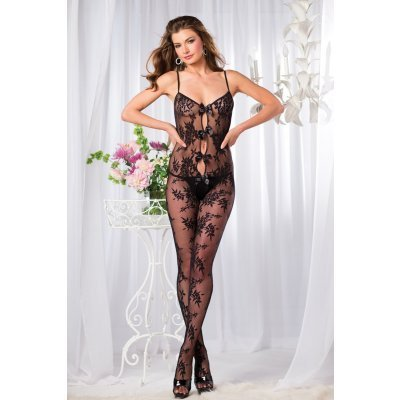 Catsuit With Rose Print And Bows
