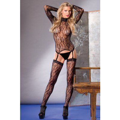 Lace Suspender Top With Stockings