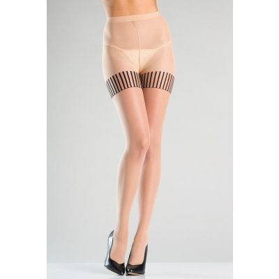 Pantyhose With Striped Stockings Design