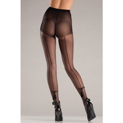 Backseam Pantyhose With Bows