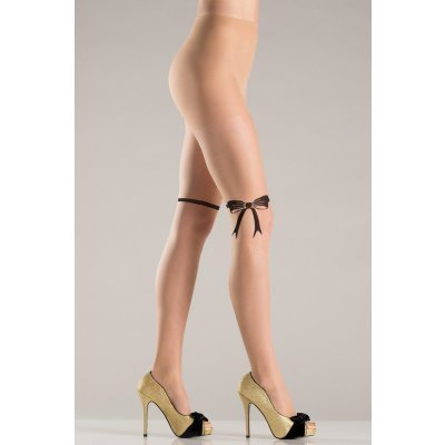 Pantyhose With Ribbon And Bow Design