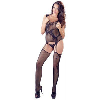 Garter Catsuit With Butterfly Design