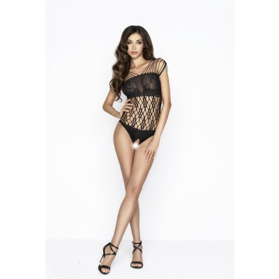 Crotchless Net Bodystocking - Black