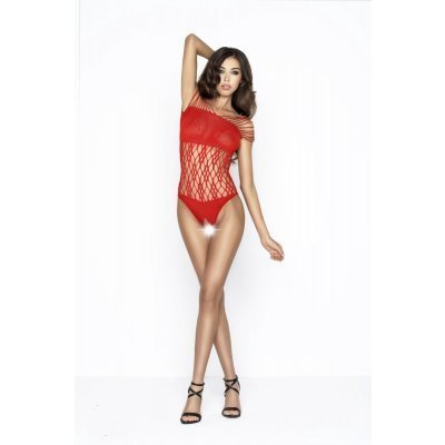 Crotchless Net Bodystocking - Red