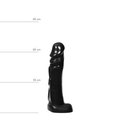 All Black Realistic Dildo 22 cm - Black