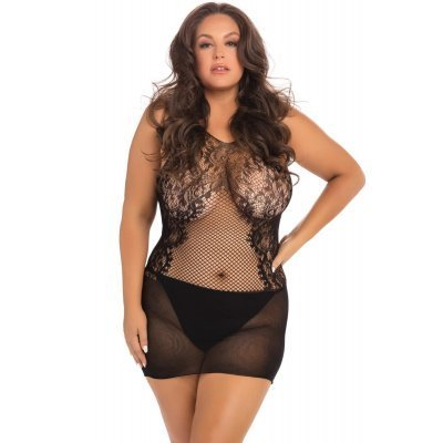 Fantasy Mini Dress - Black - Plus Size