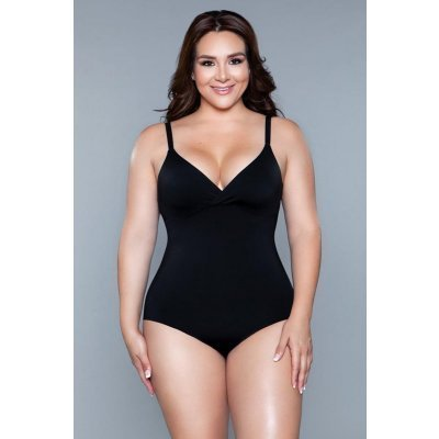 What Waist Corrective Bodysuit - Black