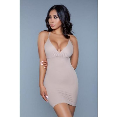 Curved Craze Shapewear Dress - Beige