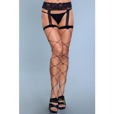 Night Shift Thigh High Stockings With Garter Belt