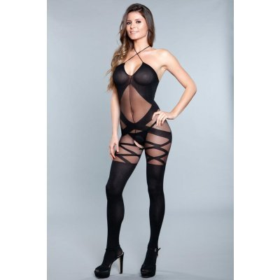 See-through Catsuit With Halterneck And Open Crotch
